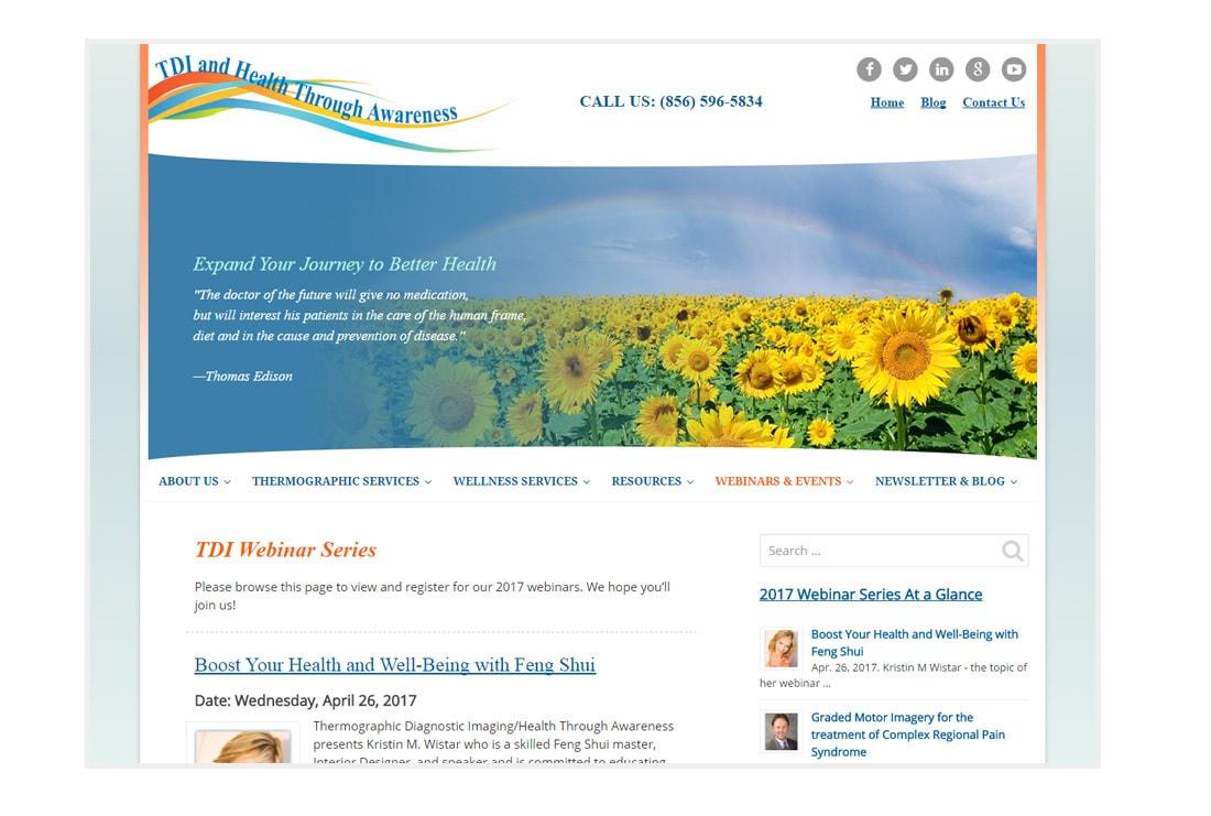 TDI HTA webinar page - Custom Responsive WordPress theme