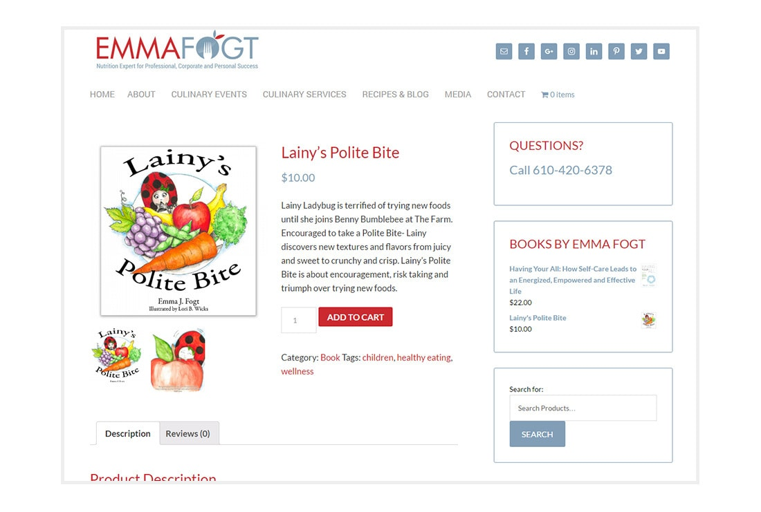 Emma Fogt Lainys Polite Bite - customized WordPress Theme