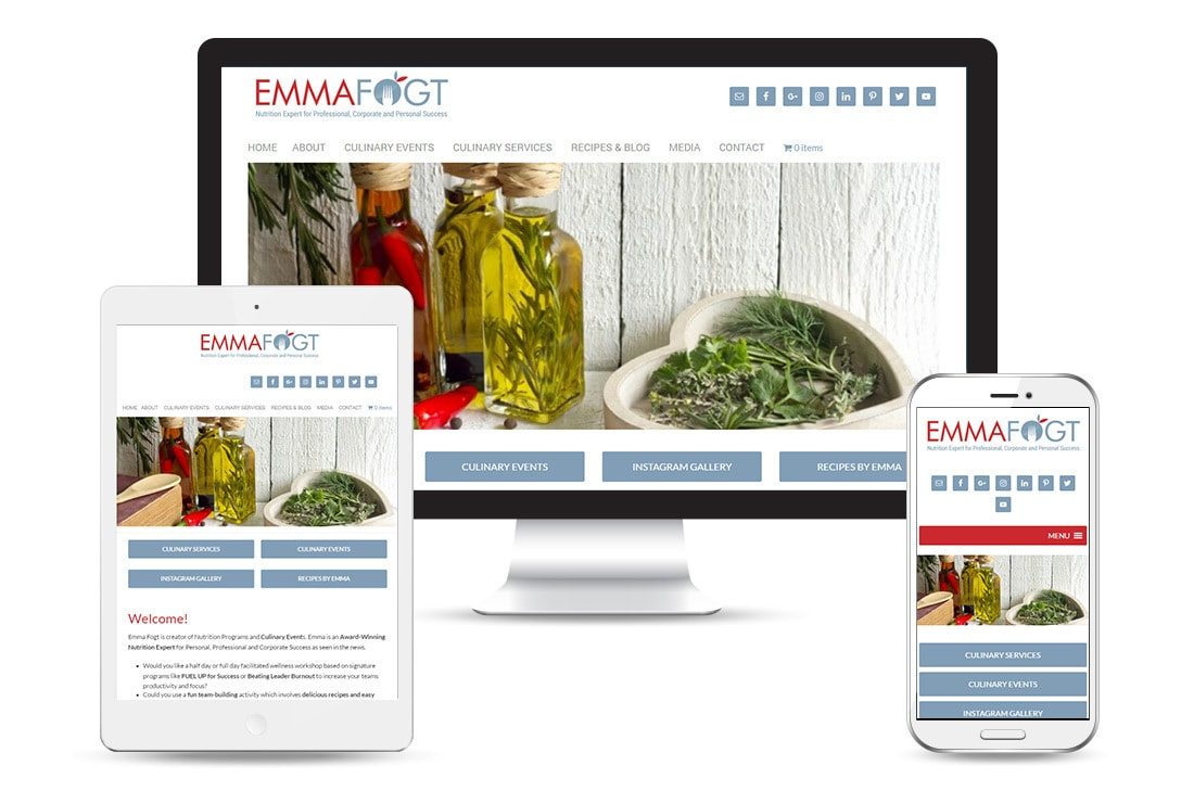 Emma Fogt - Responsive WordPress theme