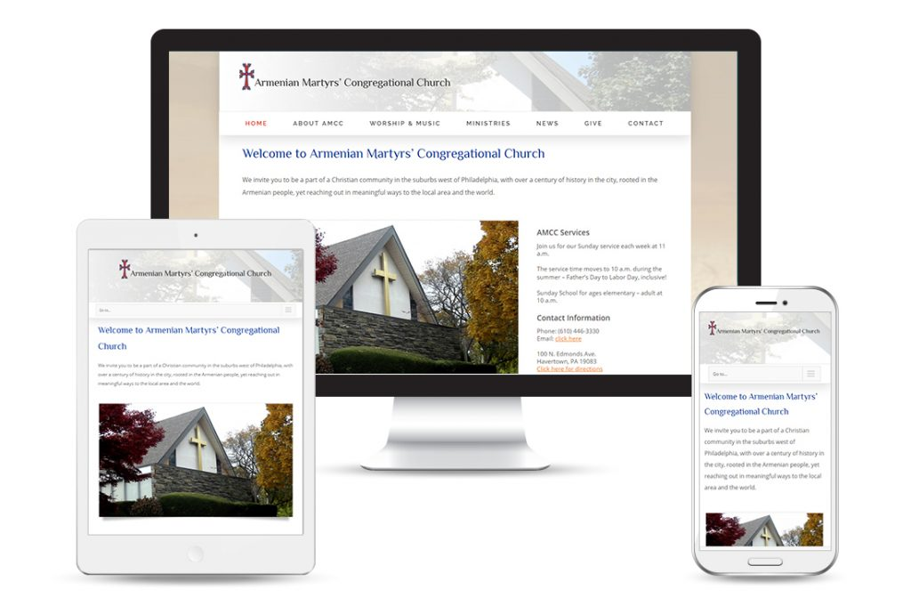 Armenian Martyrs' Congregational Church - Responsive WordPress Website