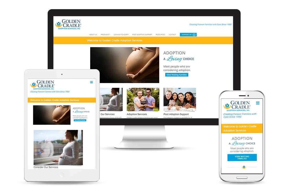 Golden Cradle Adoption views - Customized Responsive WordPress theme
