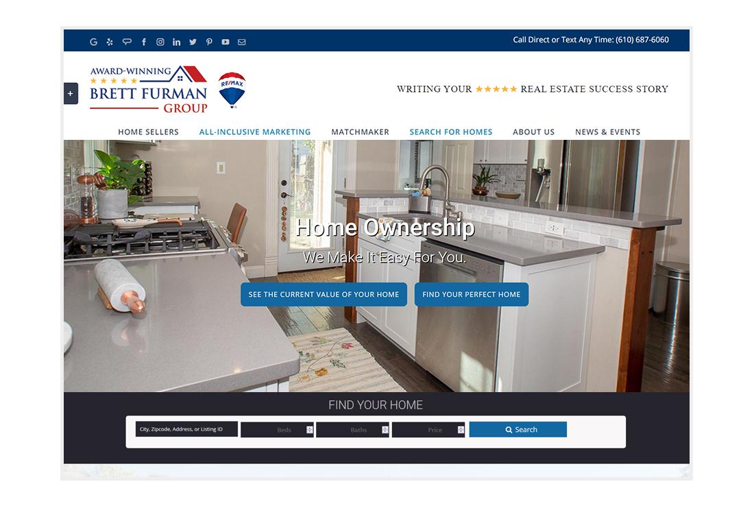 Brett Furman Group Real Estate - customized WordPress Theme