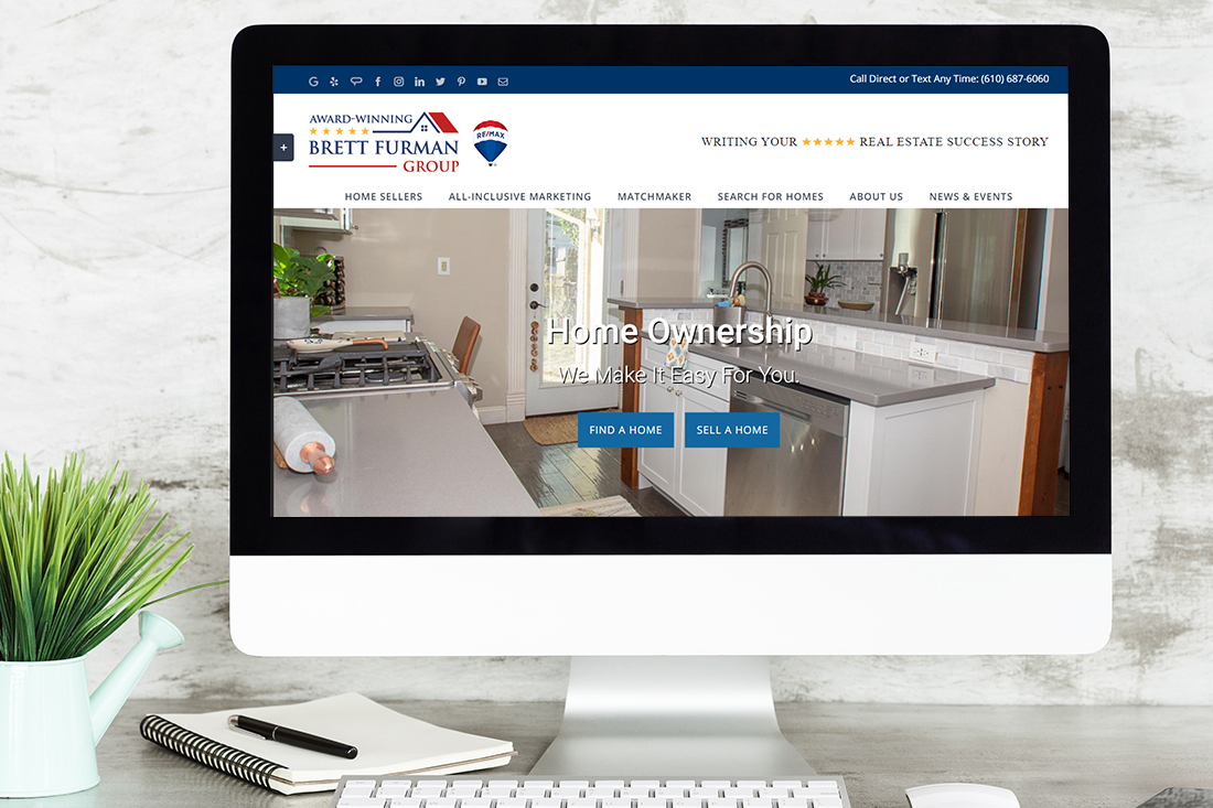 Brett Furman Group Custom website shown on desktop