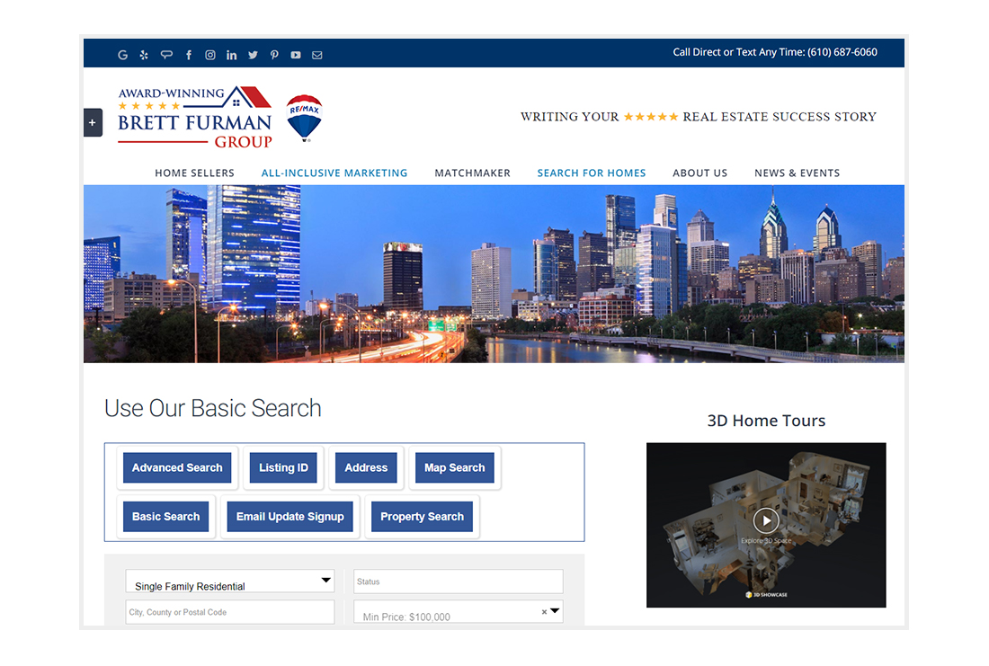 Brett Furman Group - Real Estate Search page