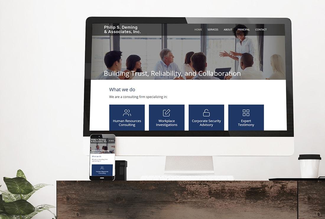 Philip S. Deming & Associates Website views