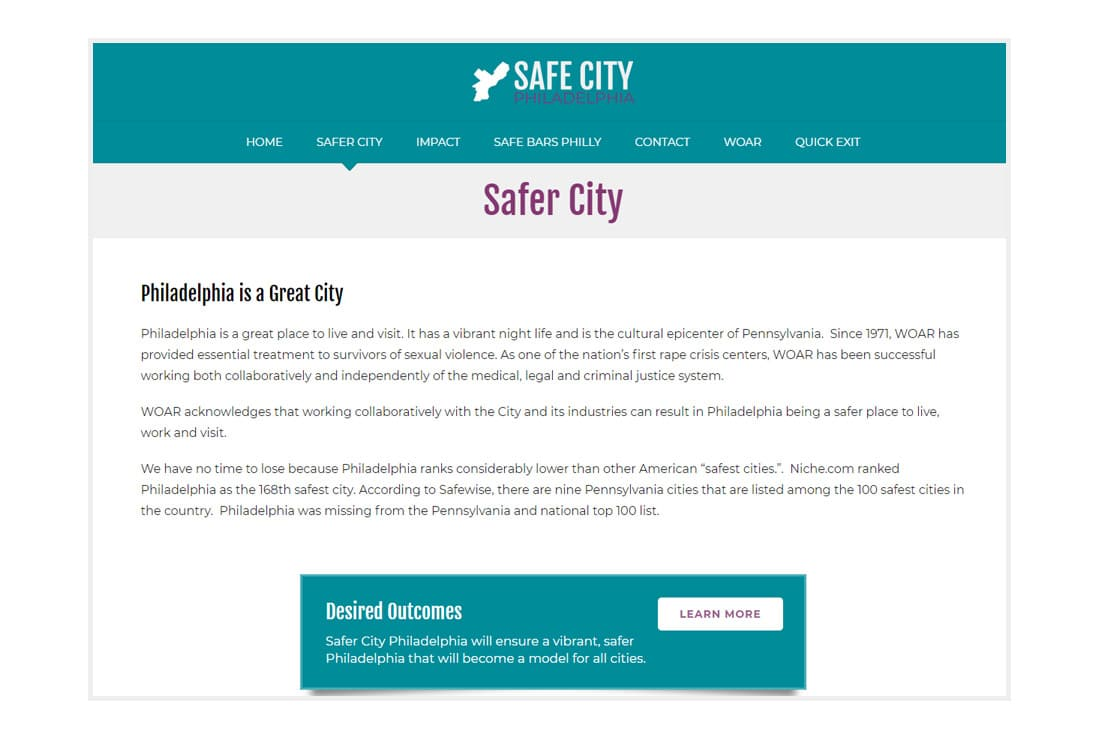 Safer City Philadelphia About