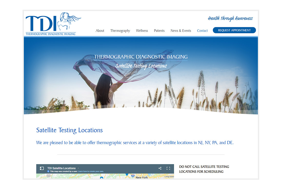 TDI & Health Through Awareness website Testing Locations page