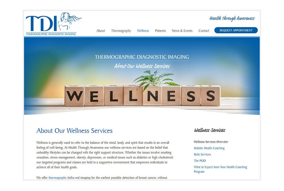 TDI & Health Through Awareness Wellness page
