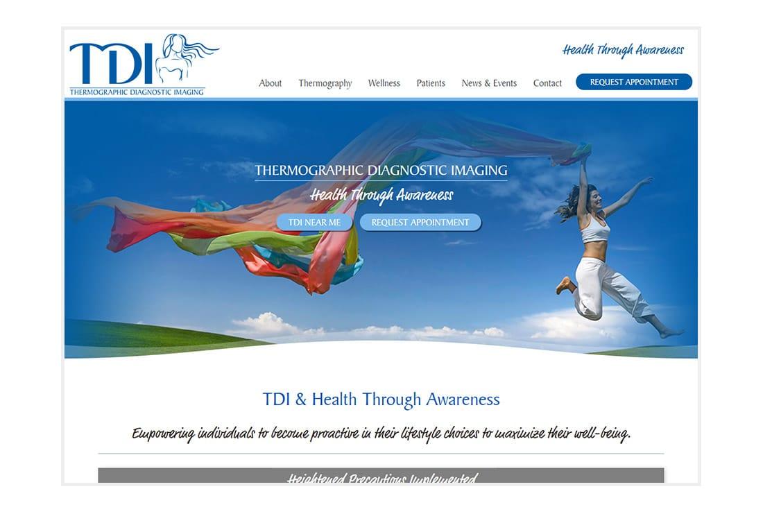 TDI & Health Through Awareness website homepage
