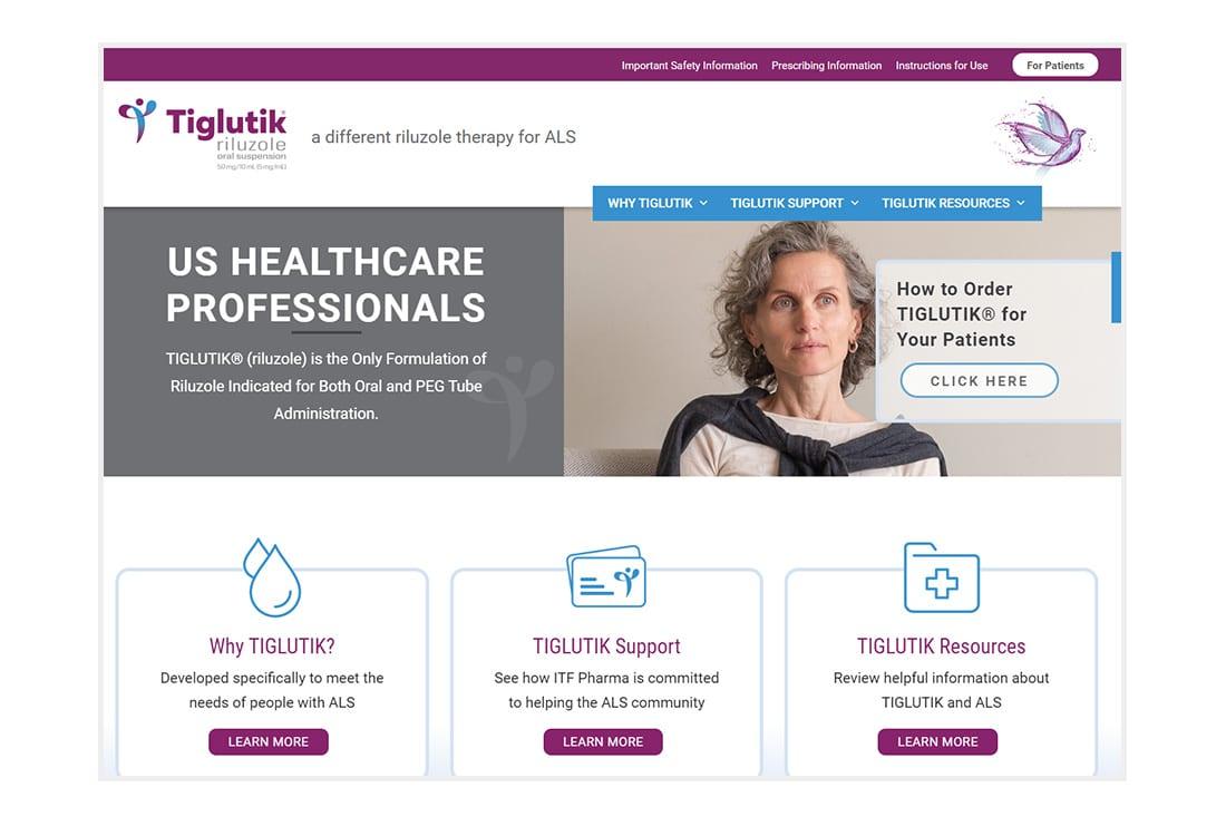 Tiglutik - HCP Landing Page