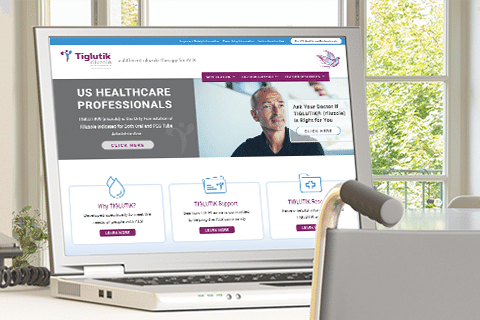 Tiglutik homepage view with wheelchair