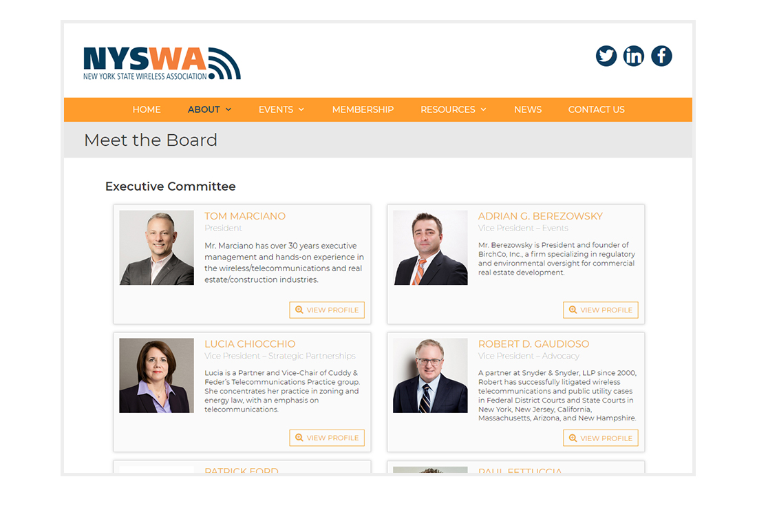 NYSWA Website Board page